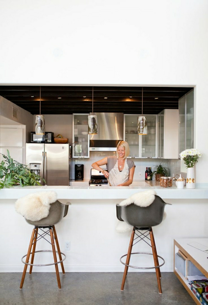 Chaise de bar de cuisine