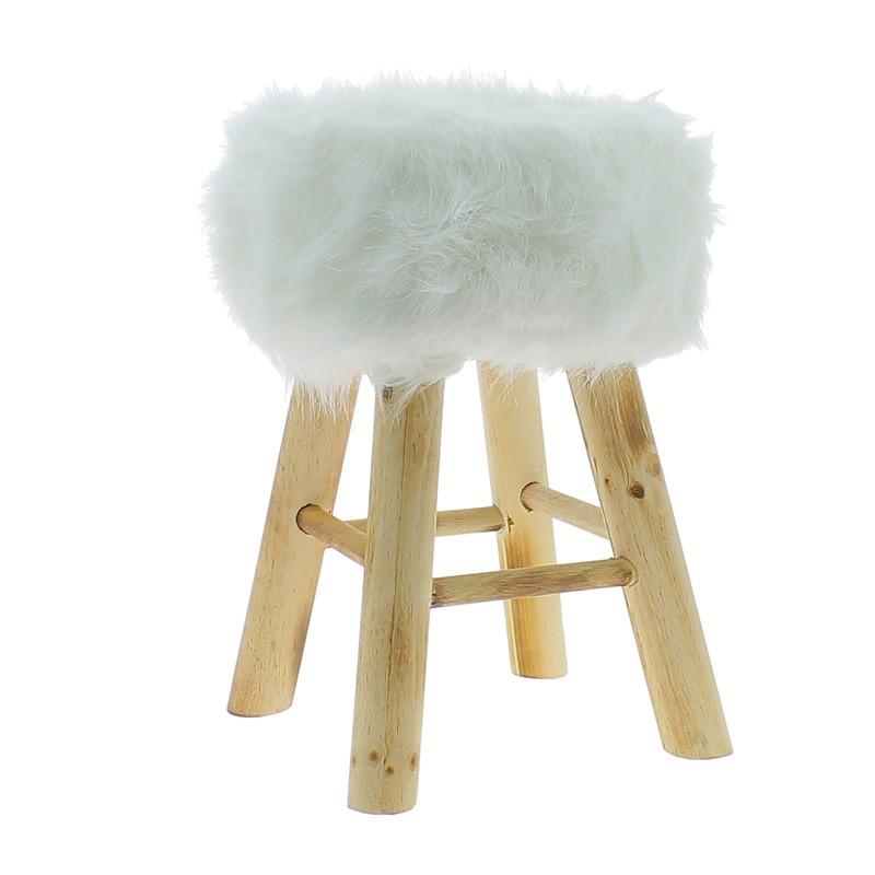 tabouret scandinave fourrure id e pour la maison et cuisine. Black Bedroom Furniture Sets. Home Design Ideas