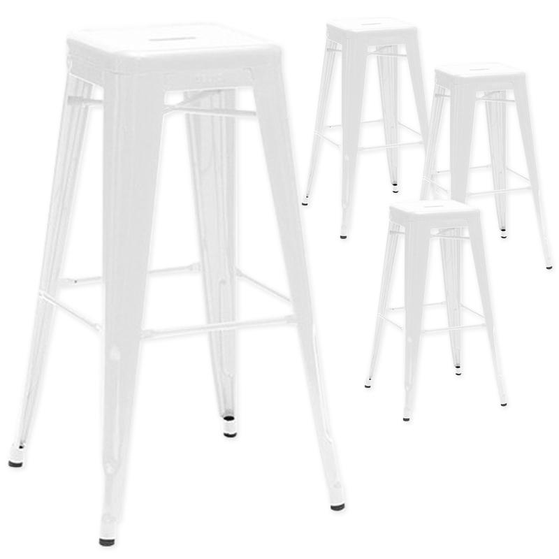 Tabouret De Bar Metal Blanc Idée Pour La Maison Et Cuisine