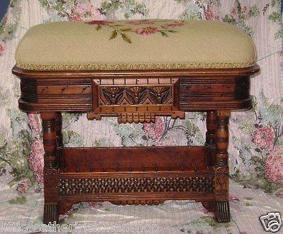 Banquette piano vintage
