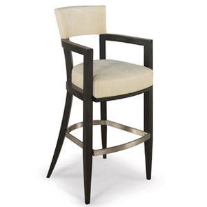 Chaise haute de bar avec accoudoir