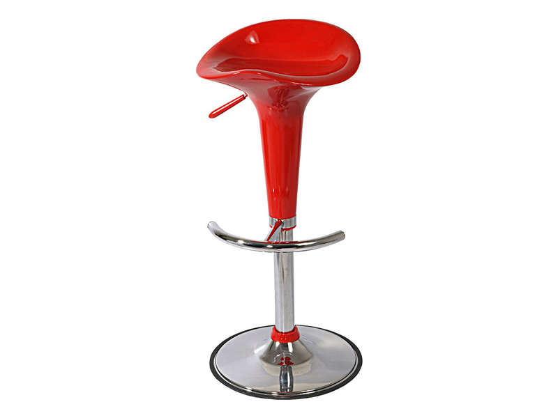 Tabouret de bar cuisine rouge
