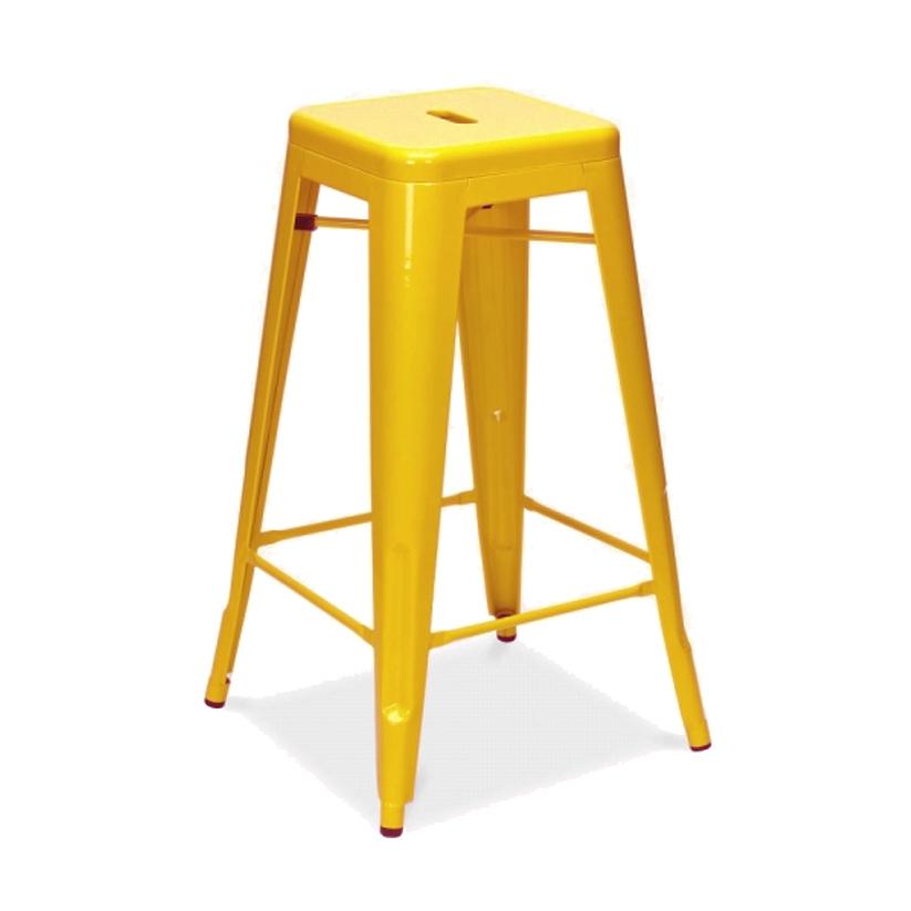 Tabouret de cuisine jaune