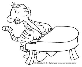 Banquette piano tiger