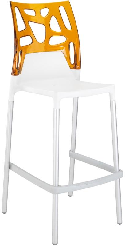 Tabouret design orange