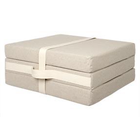 Chauffeuse cube pliable tabouret futon gilda