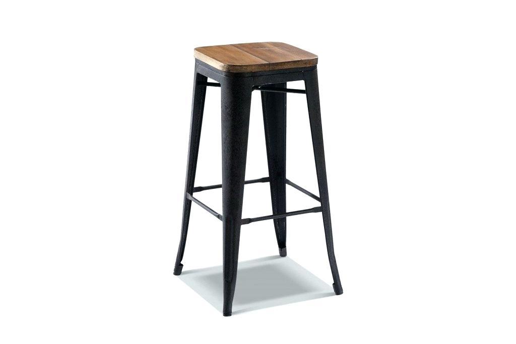 tabouret de bar industriel gris id e pour la maison et cuisine. Black Bedroom Furniture Sets. Home Design Ideas