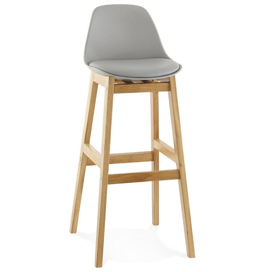 Chaise de bar pied bois