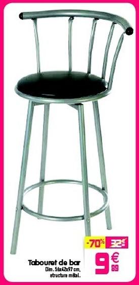 Chaise de bar gifi
