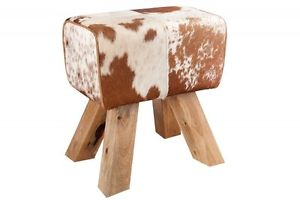 Tabouret fourrure veritable