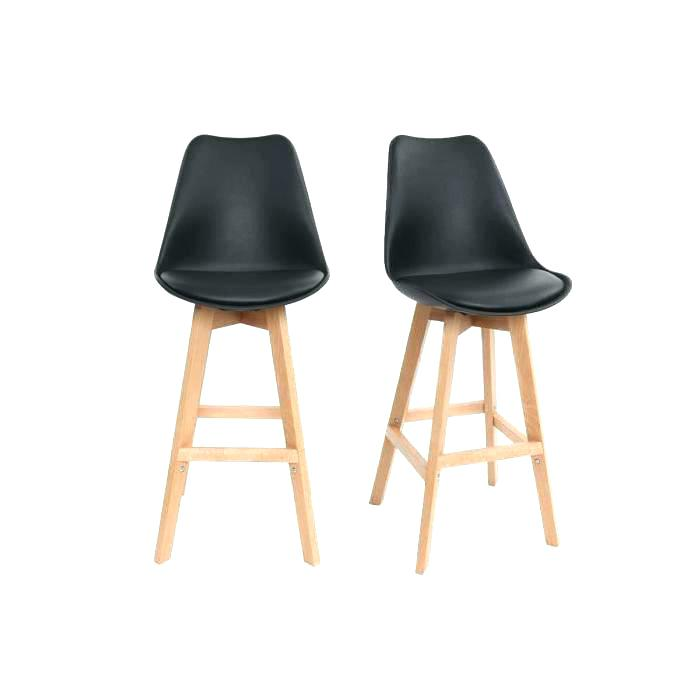 Tabouret de bar design noir columbus