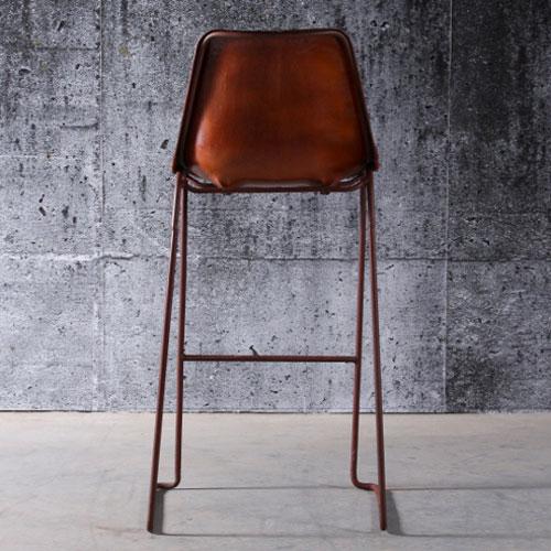Chaise bar cuir