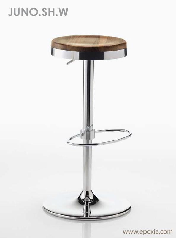 Tabouret de bar en bois réglable en hauteur
