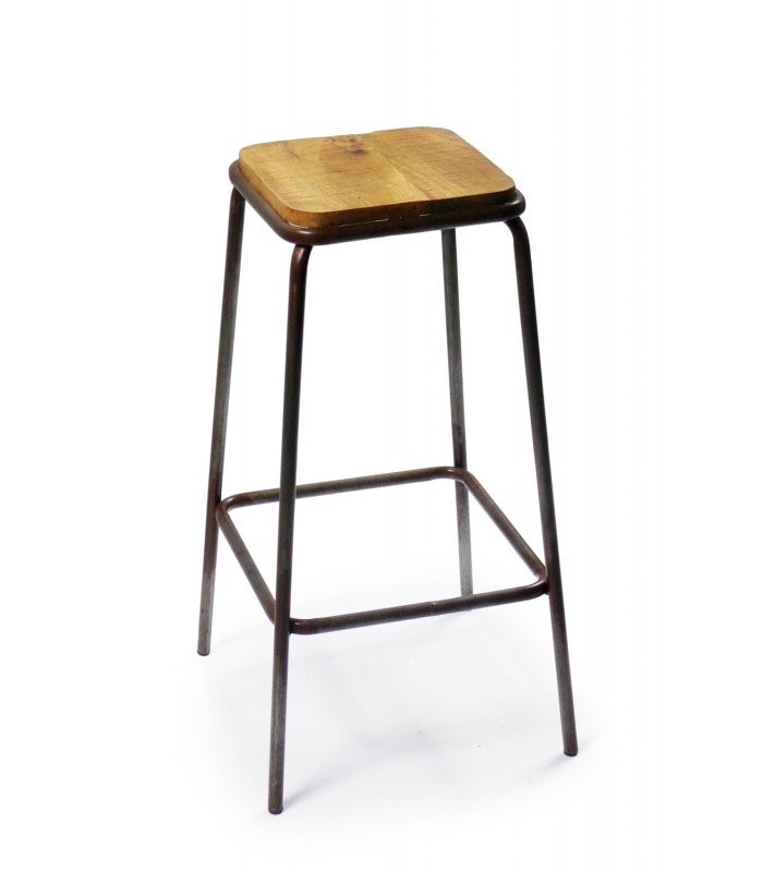 Chaise de bar noir et bois
