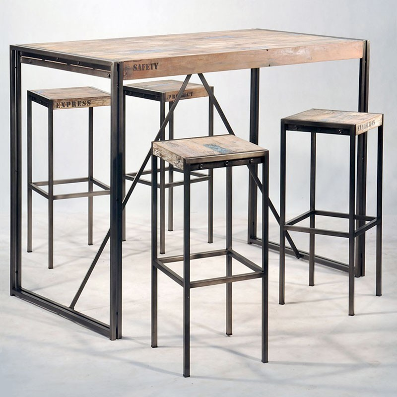 tabouret de bar style industriel pas cher id e pour la. Black Bedroom Furniture Sets. Home Design Ideas
