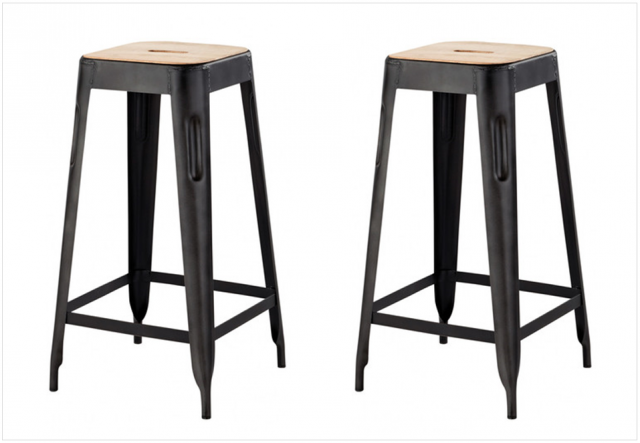 tabouret de bar noir maison du monde id e pour la maison et cuisine. Black Bedroom Furniture Sets. Home Design Ideas