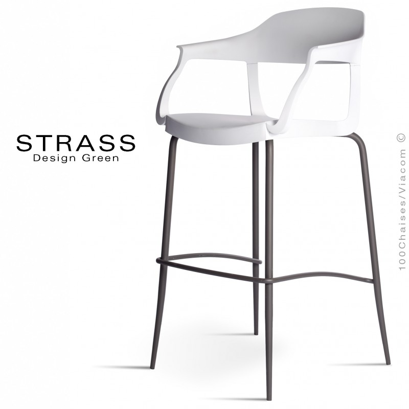 tabouret de bar avec dossier et accoudoir id e pour la. Black Bedroom Furniture Sets. Home Design Ideas