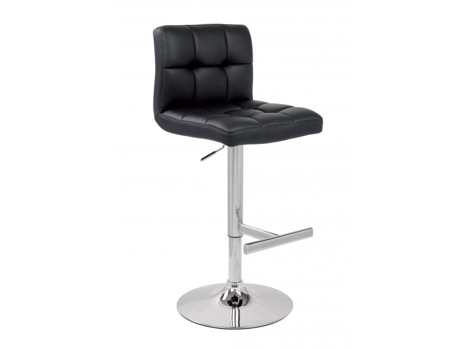 Chaise de bar cuir noir