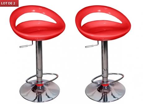 chaise de bar rouge alinéa