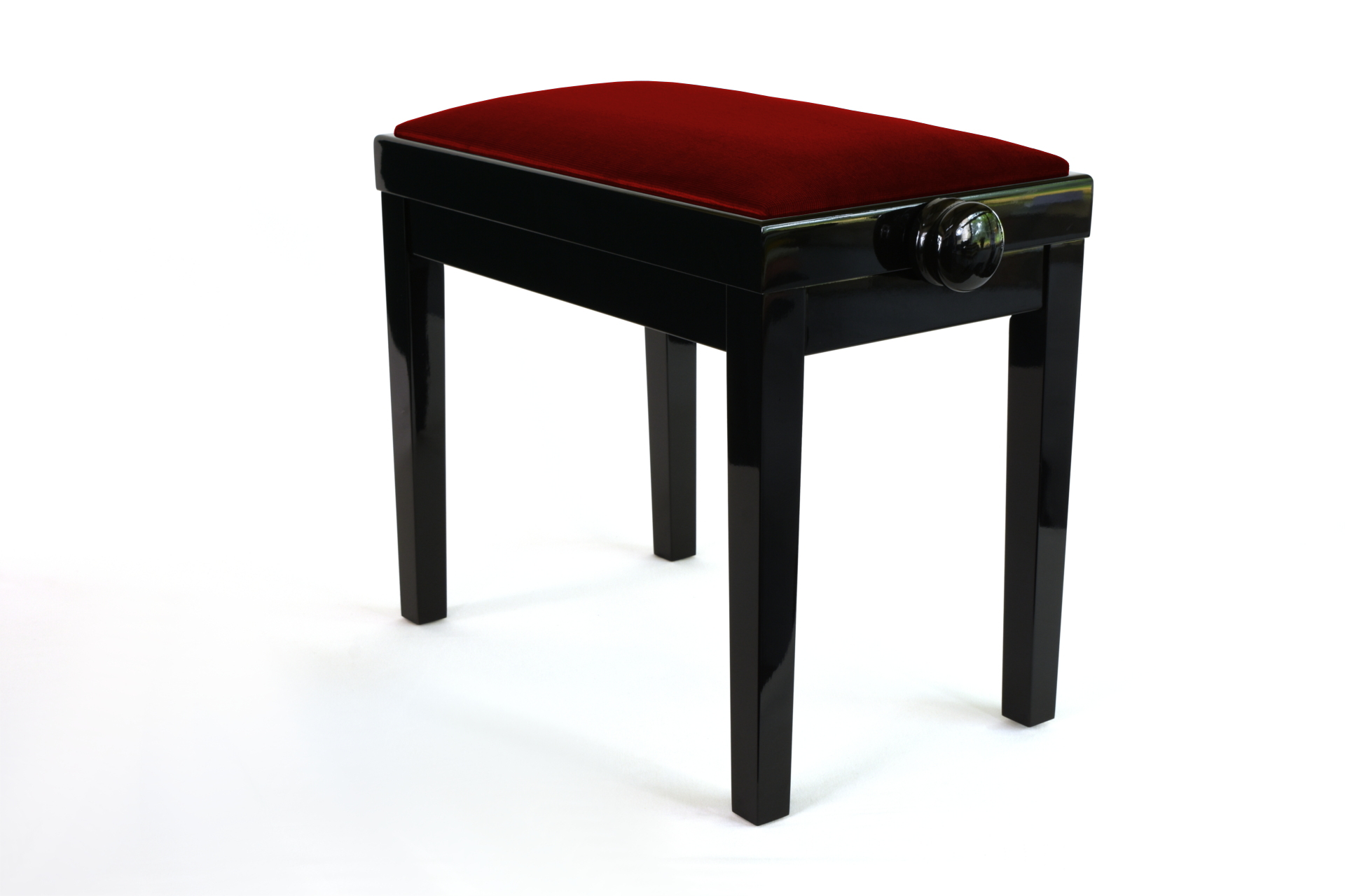 Banquette piano velours rouge