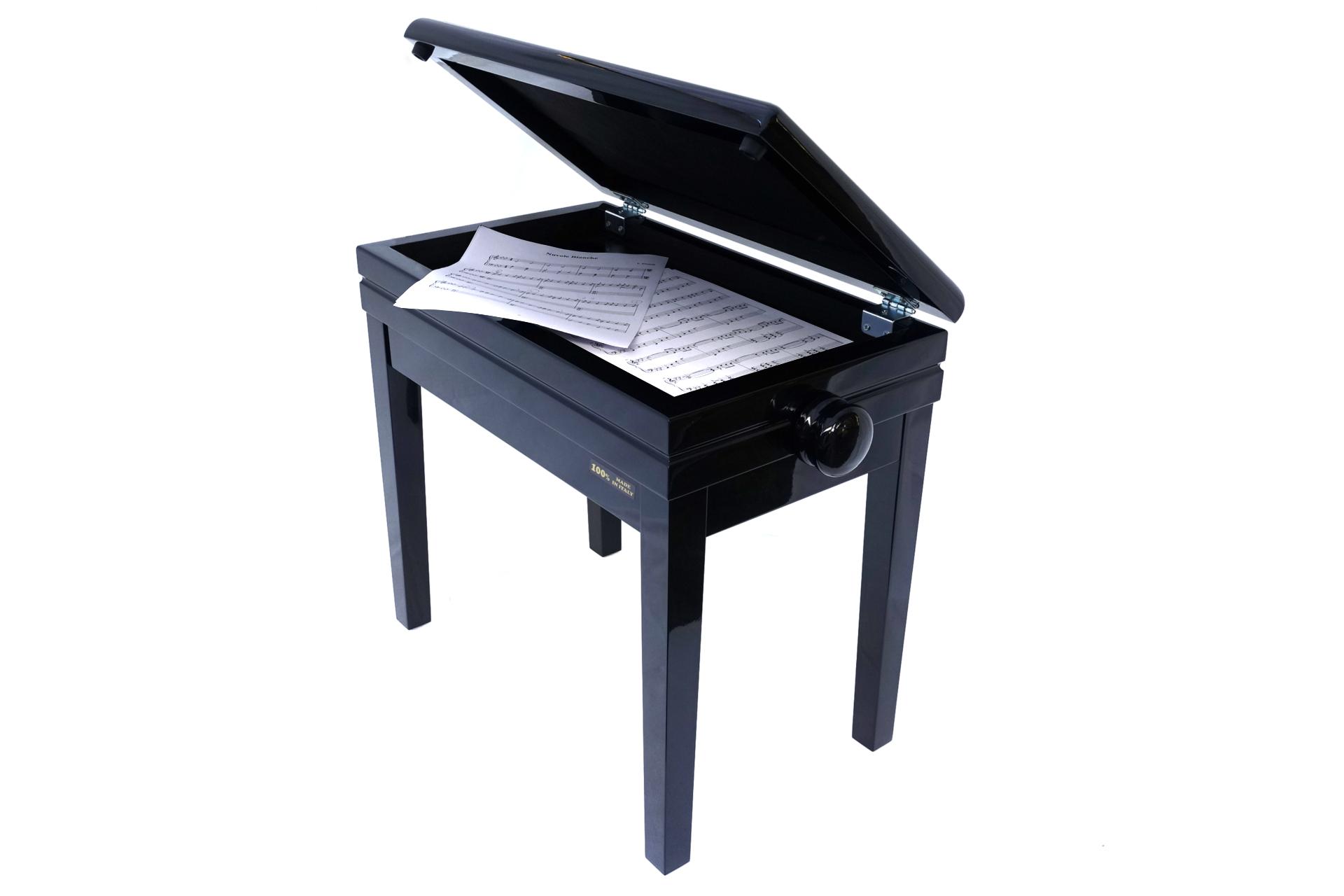 Tabouret piano gris