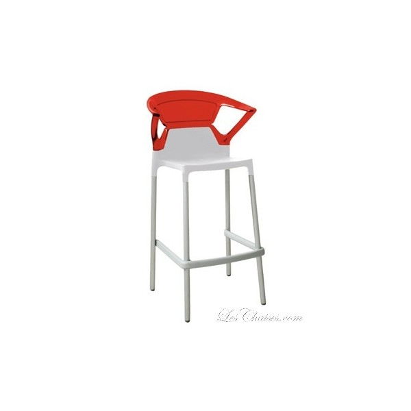 Tabouret de bar design shiver rouge