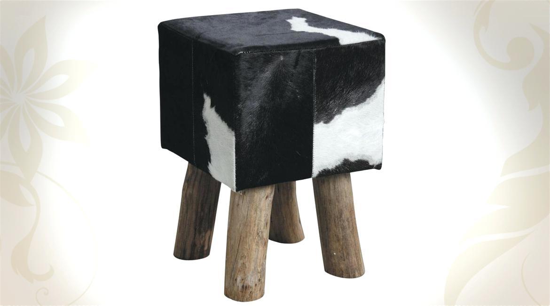 Ikea tabouret peau