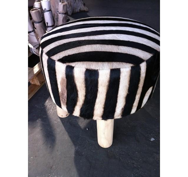 Tabouret de bar zebre