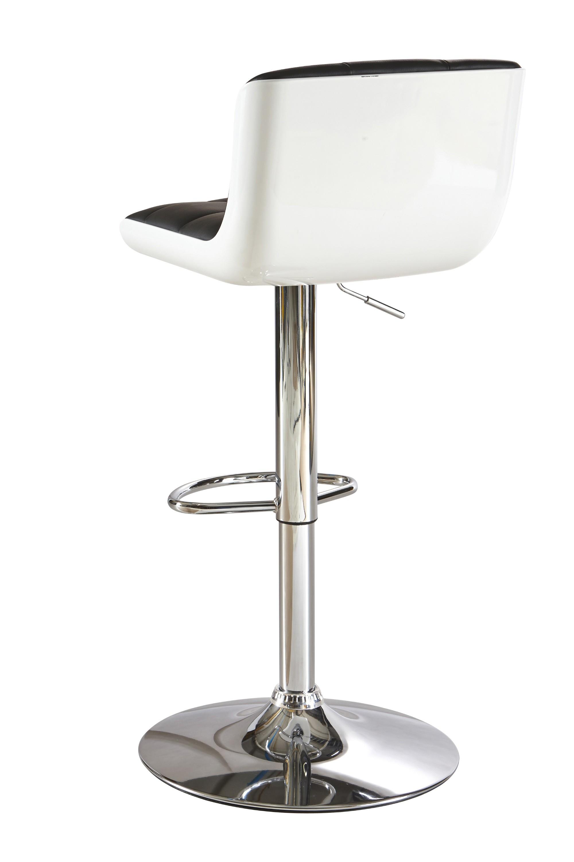 Chaise de bar noir et blanc
