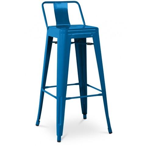 Tabouret acier bleu