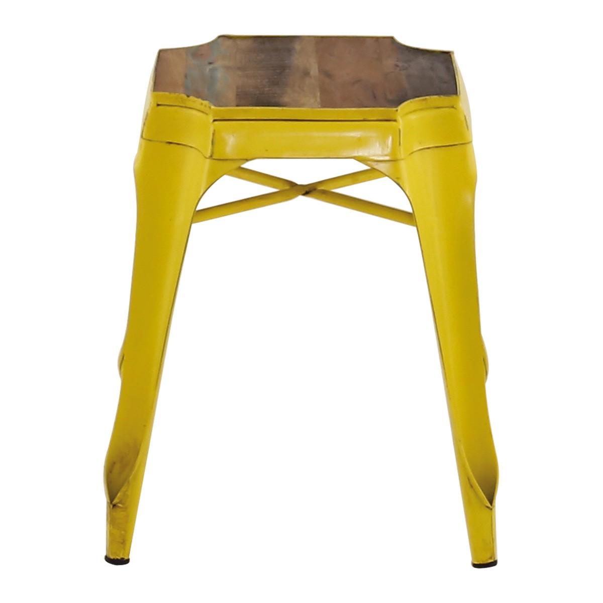 Tabouret industriel jaune