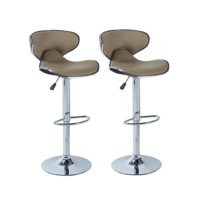 tabouret de bar design couleur taupe id e pour la maison et cuisine. Black Bedroom Furniture Sets. Home Design Ideas